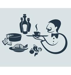 traditional italian food vector image vector image