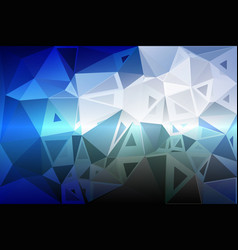 White blue shades random sizes low poly background vector