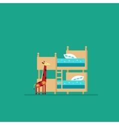 Children bedroom vector image