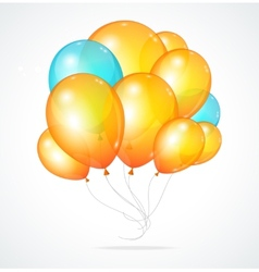 Color glossy multicolored balloons vector image vector image