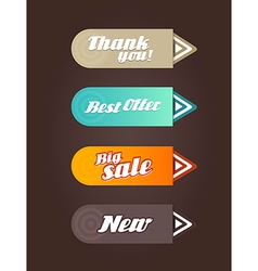 Four colored paper arrows with general text vector image vector image
