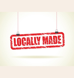 locally made red vector image