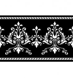 scroll border vector image