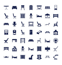 49 furniture icons vector
