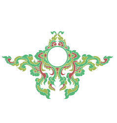 Artistic lined colors on a white vector