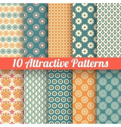 Attractive seamless patterns tiling vector