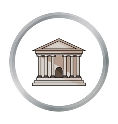 Bank icon in cartoon style isolated on white vector image