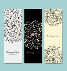 banners collection floral mandala design vector image
