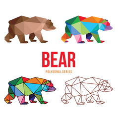 bear low poly design vector image