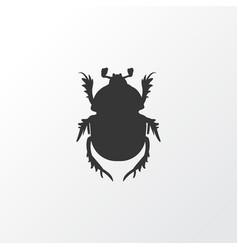 beetle icon symbol premium quality isolated bug vector image