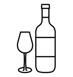 best wine bottle icon vector image