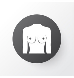 breast icon symbol premium quality isolated boob vector image