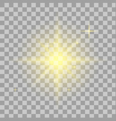 bright star transparent shine vector image