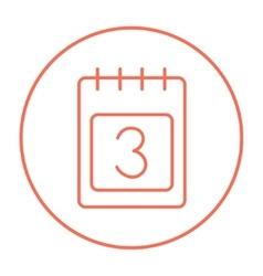 Calendar line icon vector image
