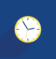 Clock on blue background vector