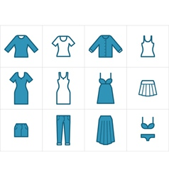 Clothing Icons Set 2 vector image