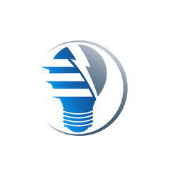 Creative bulb logo smart idea logo light bulb vector