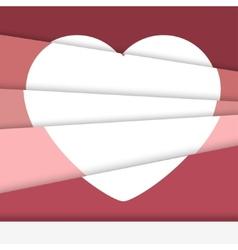 Creative Valentines day card Asymmetric heart vector