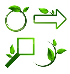 Different eco label signs vector image