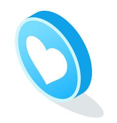 digital marketing heart emblem element vector image