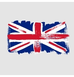 Flag of Great Britain on a gray background vector image