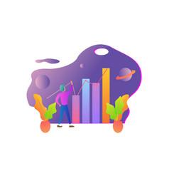 flat design for business concepts entrepreneurs vector image