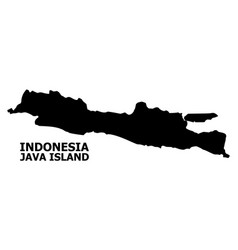 Flat map java island with caption vector