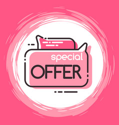 Geometric bubble isolated special offer tag vector