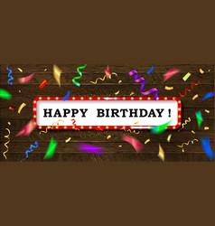 Gold lettering happy birthday vector
