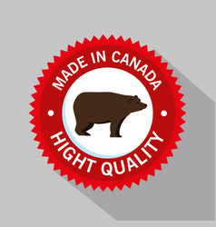 Grizzly bear canadian frame vector