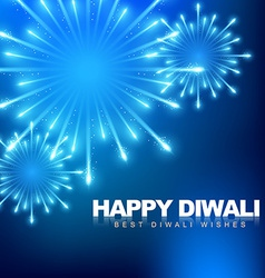 happy diwali fireworks vector image