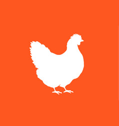 hen chicken black white silhouette chicken hen vector image