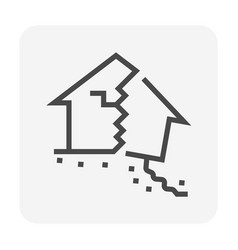 Home collapse icon vector