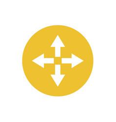 icon arrow in color circle direction way vector image
