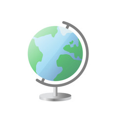 icon globe with stand globe icon vector image