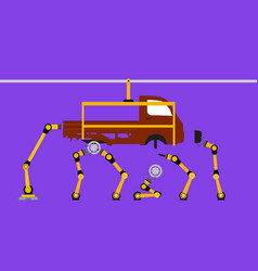 Industrail robot arms vector