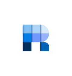 initial letter r square pixel logo design vector image