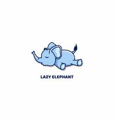 Lazy elephant sleeping cartoon vector