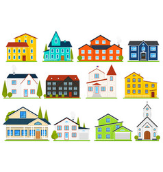 Little cute house or apartments family american vector