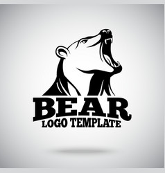 Logo template with Roaring Bear for sport vector