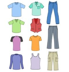 man clothes vector image