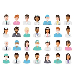 Medical and hospital staff avatars vector