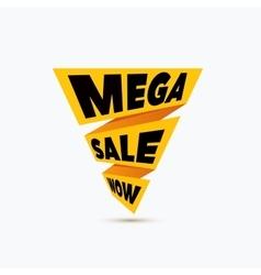 Mega sale design template Creative banner vector