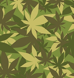 Military texture of marijuana Soldiers camouflage vector