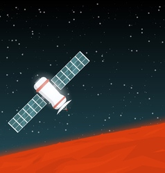 Mission on mars vector