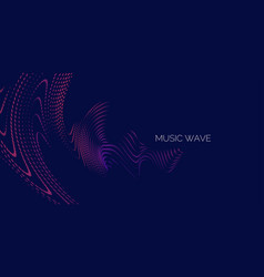musical wave in form of vector image