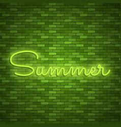 neon light lettering stock color design vector image