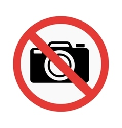 No photo sign vector image
