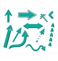 objects arrows vector image
