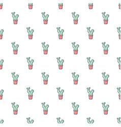 Opuntia cactus pattern seamless vector